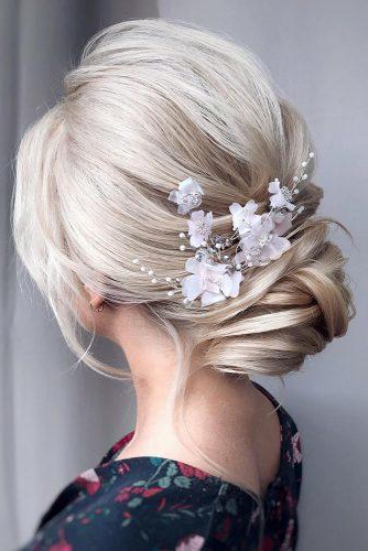 42 Wedding Hairstyles - Romantic Bridal Updos | Wedding Forward pertaining to Romantic Florals Updo Hairstyles