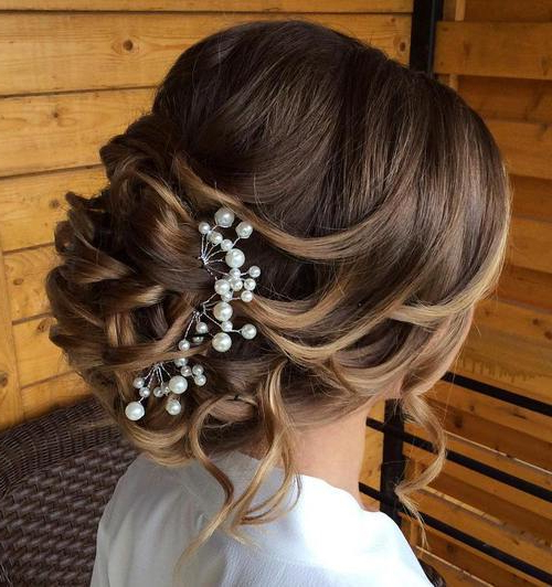 45 Elegant Loose Updo Hairstyles | Hairstylo Intended For Curled Updo Hairstyles (View 12 of 25)