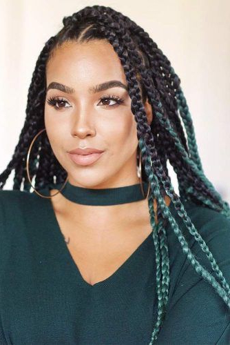 45 Enviable Ways To Rock The Latest Black Braided Hairstyles throughout Most Recently Thick Cornrows Braided Hairstyles