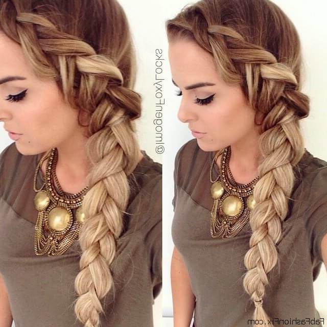 45 Trendy Dutch Braid Hairstyle Ideas To Keep You Cool – My within 2020 Dramatic Side Part Braided Hairstyles