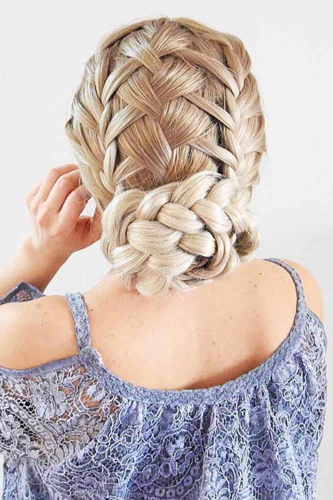 45 Types Of French Braid To Experiment With | Hairstyles In Criss Cross Braid Bun Hairstyles (View 24 of 25)