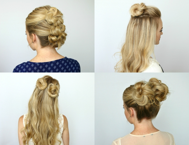 5 Summer Mini Bun Hairstyles | Missy Sue Regarding Double Mini Buns Updo Hairstyles (View 13 of 25)