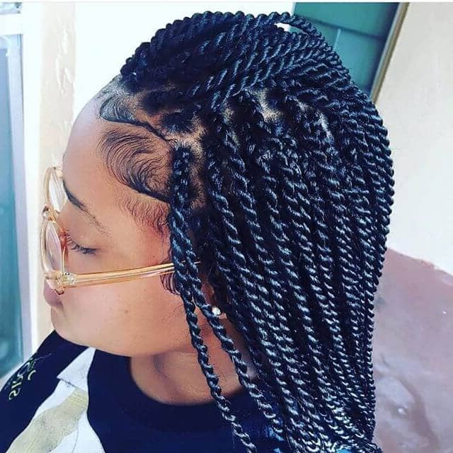 50 Beautiful Ways To Wear Twist Braids For All Hair Textures In Twists And Braid Hairstyles (View 19 of 25)