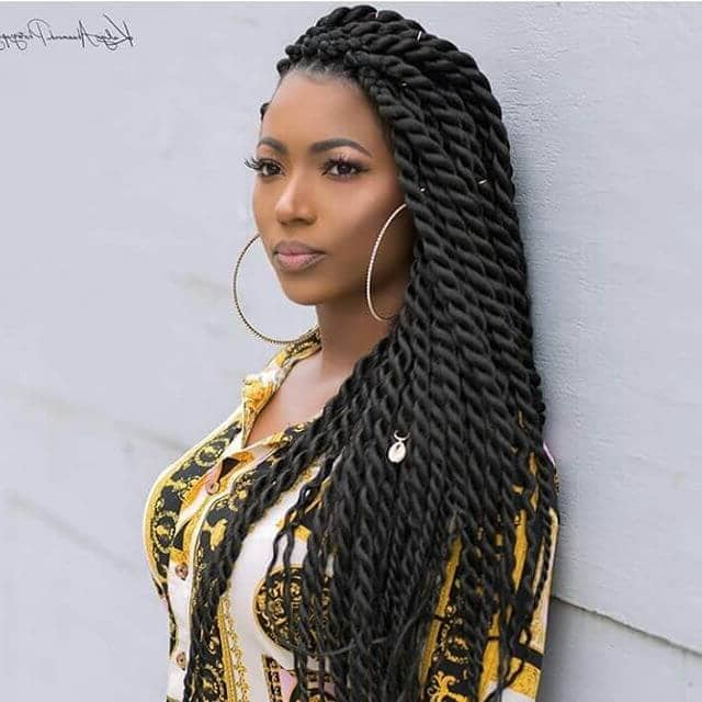 50 Beautiful Ways To Wear Twist Braids For All Hair Textures With Twists And Braid Hairstyles (View 23 of 25)