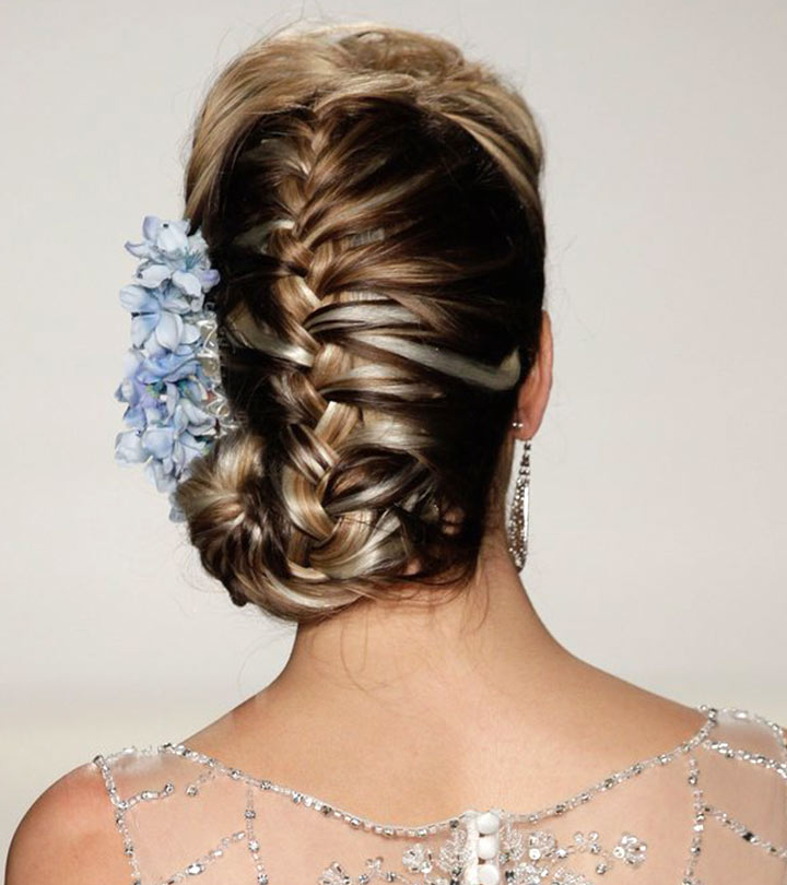 50 Braided Hairstyles That Are Perfect For Prom Regarding Newest Chunky French Braid Chignon Hairstyles (View 21 of 25)
