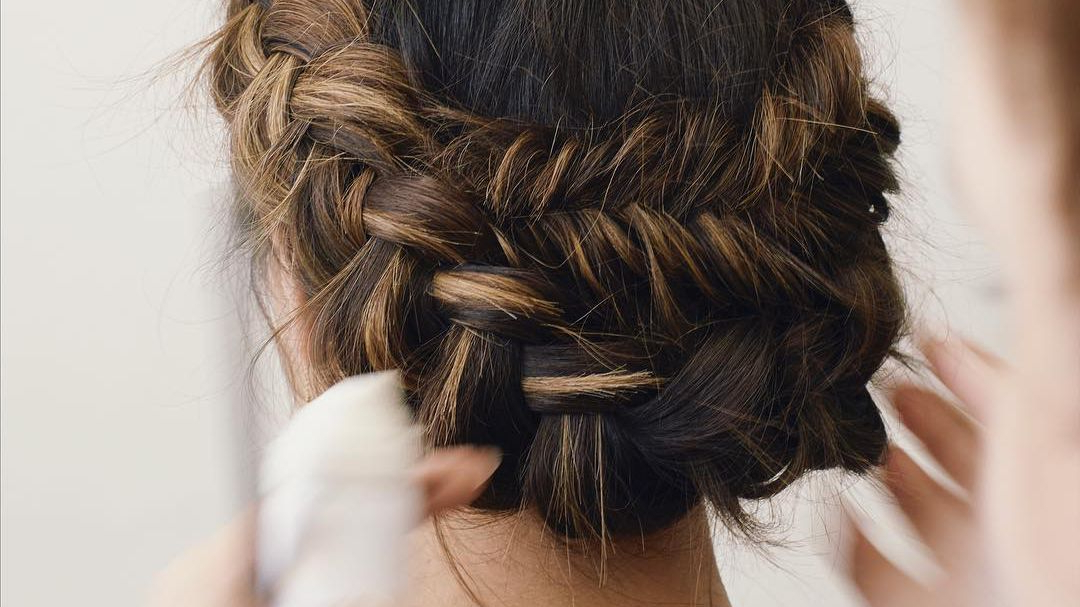 50 Braided Wedding Hairstyles We Love Within Most Recent Chunky French Braid Chignon Hairstyles (View 22 of 25)