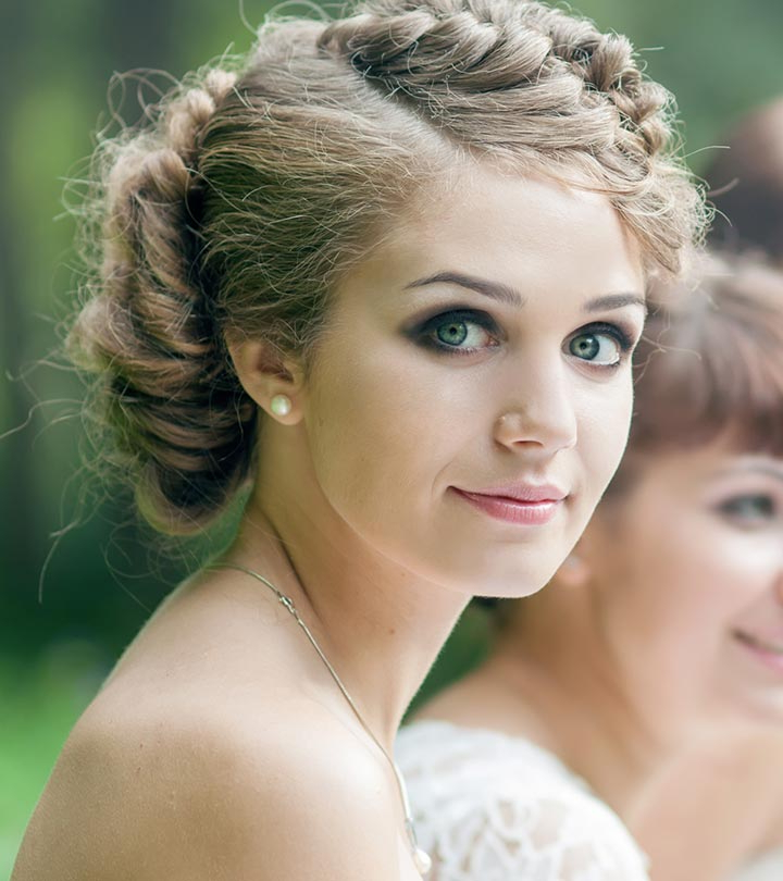 50 Bridesmaid Hairstyles For Short Hair In Stacked Mini Buns Hairstyles (View 16 of 25)