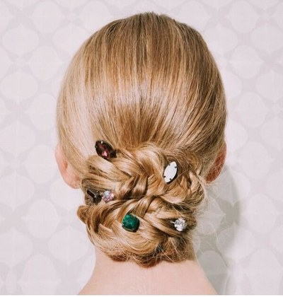 50 Cool Winter Hairstyles You Have To Try | Glamour Throughout Blinged Out Bun Updo Hairstyles (View 11 of 25)