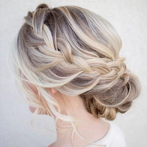 50 Cute And Trendy Updos For Long Hair | Stayglam Hairstyles Intended For Most Popular French Braid Low Chignon Hairstyles (View 8 of 25)