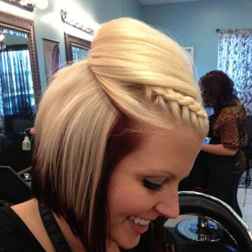 50 Flamboyant Braided Bang Hairstyles – My New Hairstyles Within Most Recently Braids And Bouffant Hairstyles (View 24 of 25)