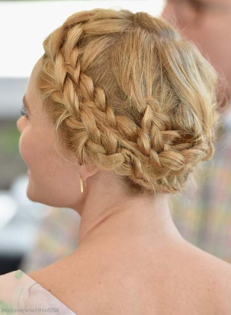 50 Great Short Updo Hairstyles For Women Inside Multi Braid Updo Hairstyles (View 18 of 25)