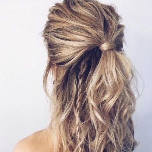 50 Half Up Half Down Hairstyles You'll Totally Love | Hair Pertaining To Braided Half Up Hairstyles (View 10 of 25)
