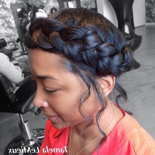 50 Natural Goddess Braids To Bless Ethnic Hair In 2019 In Ethereal Updo Hairstyles With Headband (View 19 of 25)