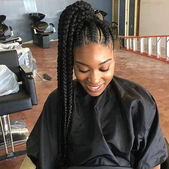 50 Natural Goddess Braids To Bless Ethnic Hair In 2019 In Most Recent High Ponytail Braided Hairstyles (View 20 of 25)