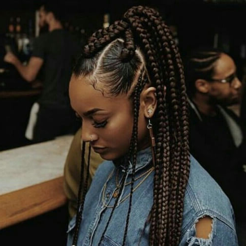 50 Protective Hairstyles For Natural Hair For All Your Needs In Latest High Ponytail Braided Hairstyles (View 17 of 25)