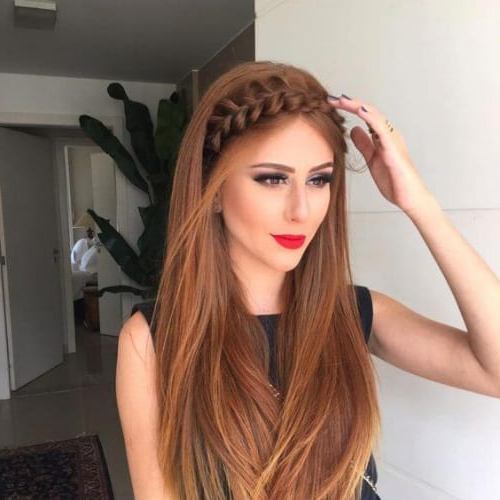 50 Romantic Braid Hairstyles For Long Hair   All Women With Regard To Most Recently Fishtail Crown Braided Hairstyles (View 14 of 25)