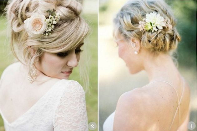 50 Romantic Wedding Hairstyles Using Flowers With Regard To Romantic Florals Updo Hairstyles (View 10 of 26)