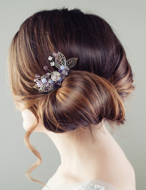 50 Stunning Bun Hairstyles You Need To Check Out Now! Throughout Floral Bun Updo Hairstyles (View 7 of 25)