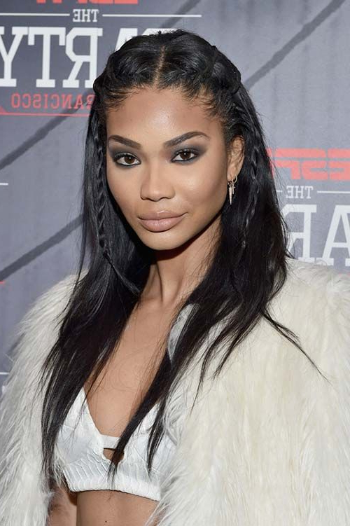 Featured Photo of Center Part Braided Hairstyles