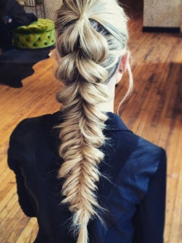 50 Superb Fishtail Braid Styles You Must Try! | Hair Motive Pertaining To Most Current Ponytail Fishtail Braided Hairstyles (View 9 of 25)
