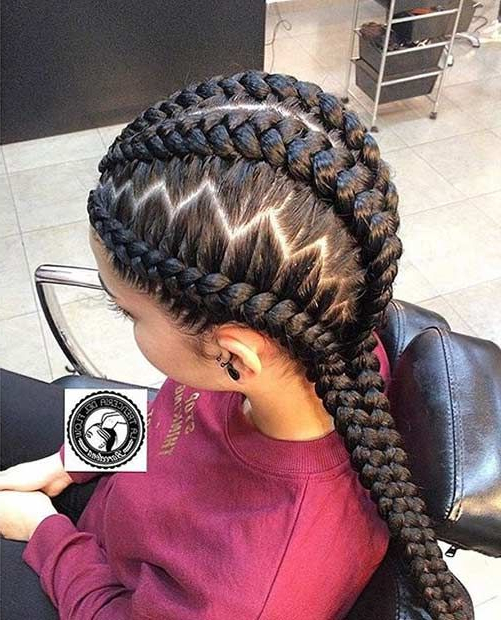51 Best Ghana Braids Hairstyles | Stayglam Hairstyles For Recent Zig Zag Cornrows Braided Hairstyles (View 2 of 25)