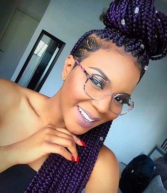 51 Hot Poetic Justice Braids Styles | Stayglam Hairstyles Intended For Latest Shaved Platinum Hairstyles With Micro Braids (View 21 of 25)