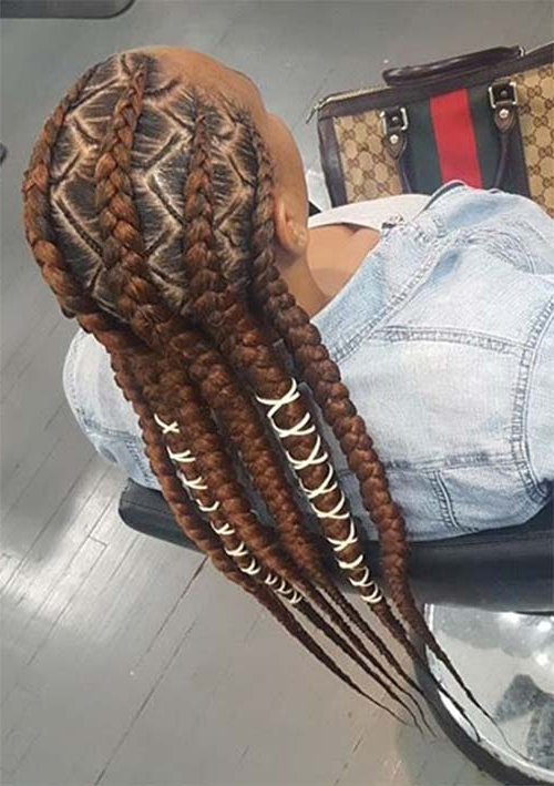 53 Goddess Braids Hairstyles – Tips On Getting Goddess Within Best And Newest Zig Zag Cornrows Braided Hairstyles (View 24 of 25)