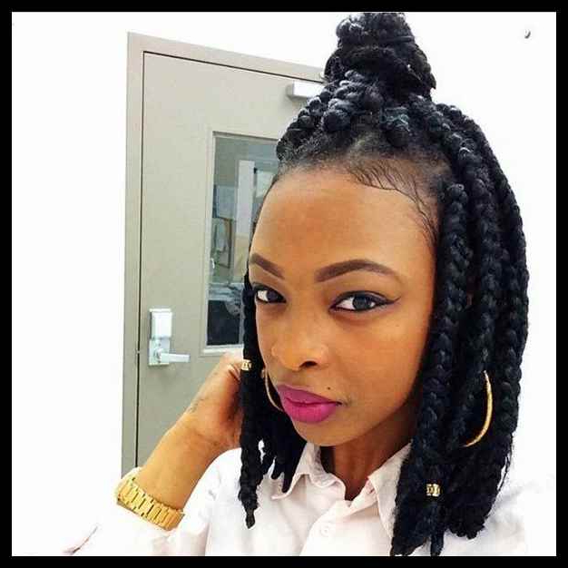 55 Best Big Box Braid Hairstyles For Summer Of 2019 – Bun Intended For Most Recently Big Bun Braided Hairstyles (View 16 of 25)