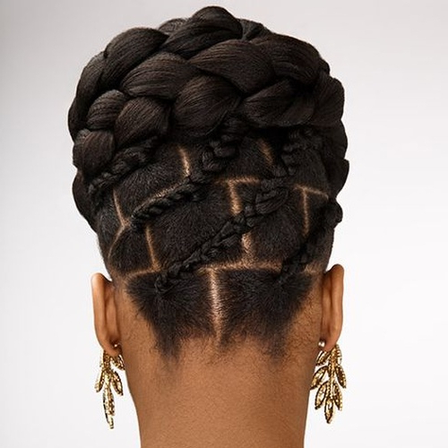 55 Flattering Goddess Braids Ideas To Inspire You | Hair Within Criss Cross Braid Bun Hairstyles (View 13 of 25)