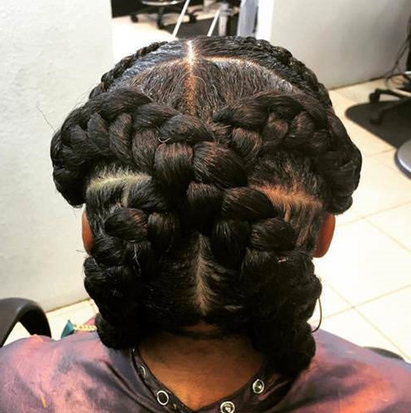 55 Of The Most Stunning Styles Of The Goddess Braid With Criss Cross Braid Bun Hairstyles (View 8 of 25)