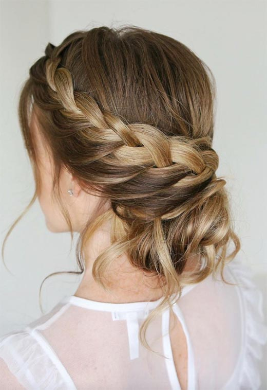 57 Amazing Braided Hairstyles For Long Hair For Every In Current Chunky French Braid Chignon Hairstyles (View 25 of 25)