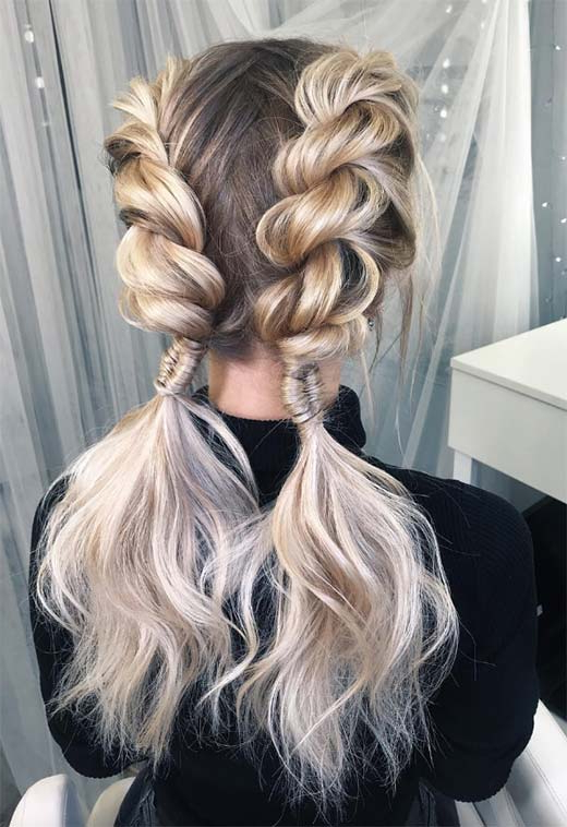 57 Amazing Braided Hairstyles For Long Hair For Every Inside 2020 Loosely Tied Braided Hairstyles With A Ribbon (View 2 of 25)