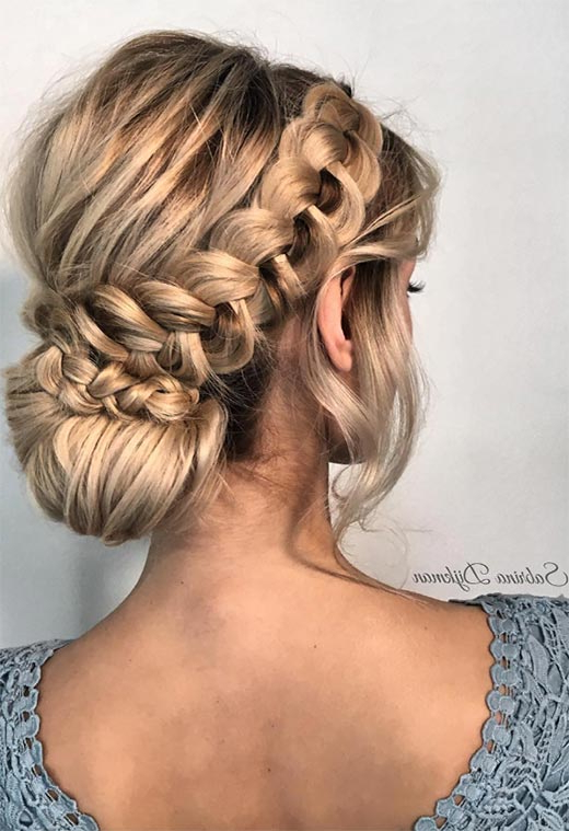57 Amazing Braided Hairstyles For Long Hair For Every Intended For Dutch Braid Updo Hairstyles (View 14 of 25)
