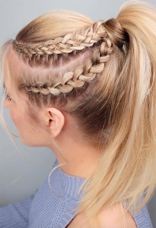 57 Amazing Braided Hairstyles For Long Hair For Every Intended For Recent High Ponytail Braided Hairstyles (View 23 of 25)