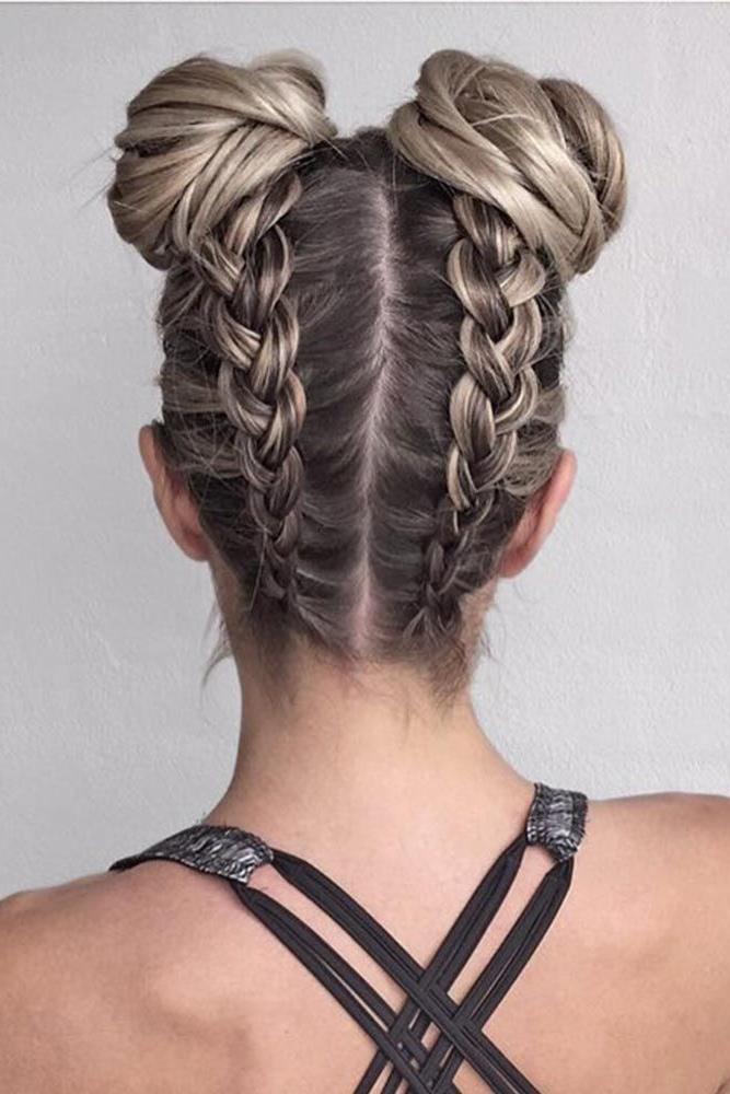 57 Cute And Creative Dutch Braid Ideas | Hair | Frisuren Throughout Dutch Braid Bun Hairstyles (View 2 of 25)