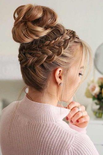 57 Cute And Creative Dutch Braid Ideas | Lovehairstyles Regarding Dutch Braid Bun Hairstyles (View 9 of 25)