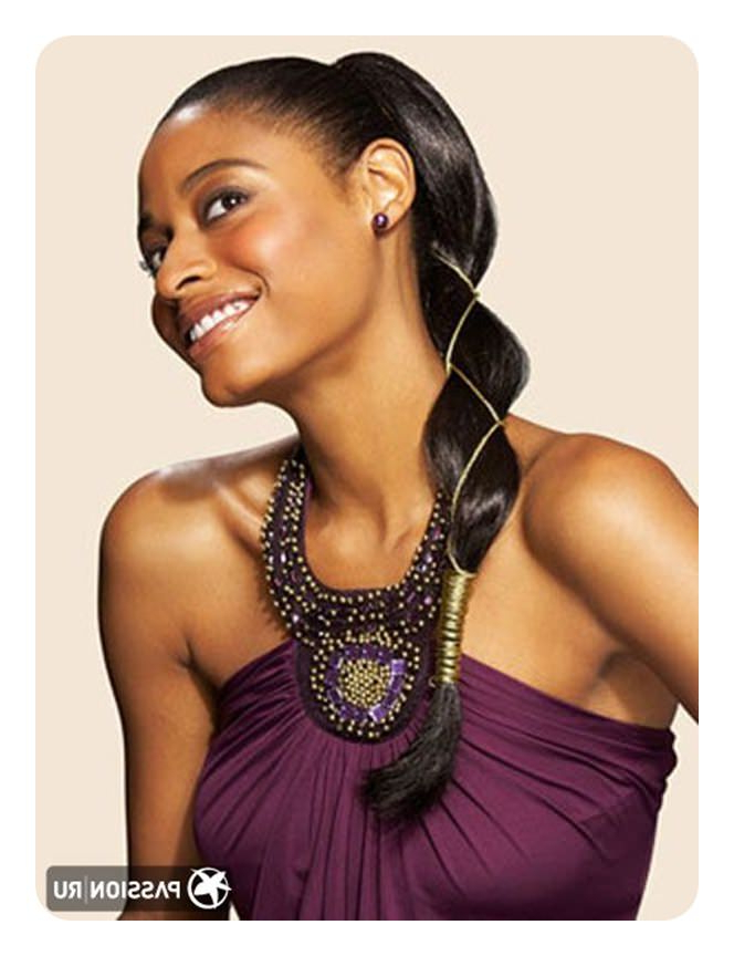 59 Timeless Weave Ponytail Hairstyles For Women Pertaining To Most Recently Grecian Inspired Ponytail Braided Hairstyles (View 21 of 25)