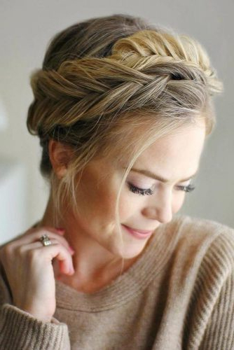 60+ Crown Braid Styling Ideas | Lovehairstyles Intended For Most Recent Messy Crown Braided Hairstyles (View 25 of 25)