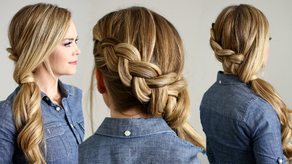 61 Beautiful Braids And Braided Hairstyles – The Women's Trend For Latest Billowing Ponytail Braided Hairstyles (View 22 of 25)