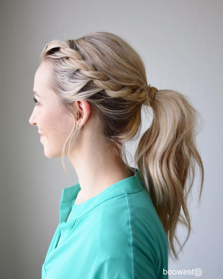 62 Super Easy Braided Hairstyles To Save Time While Getting Within Wrapped Ponytail Hairstyles (View 20 of 25)