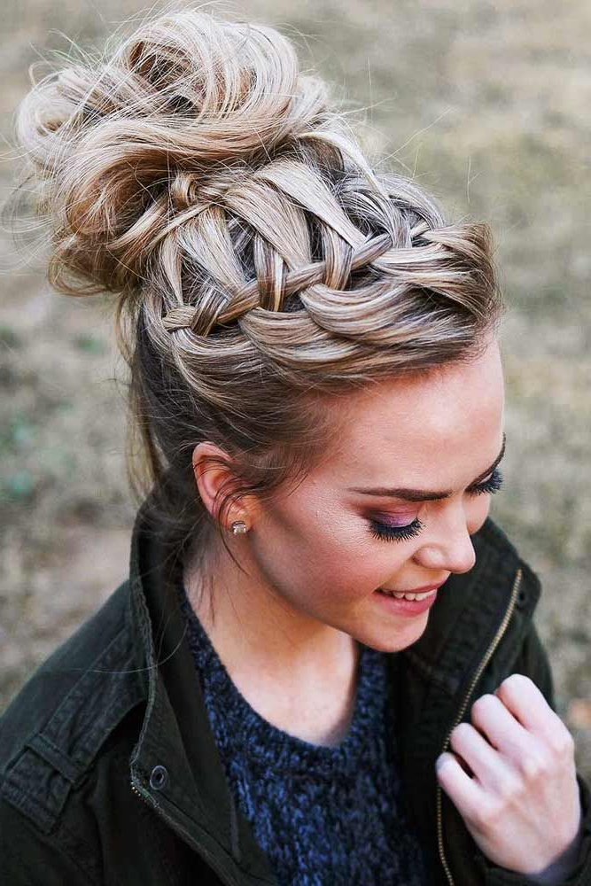 Featured Photo of High Waterfall Braided Hairstyles