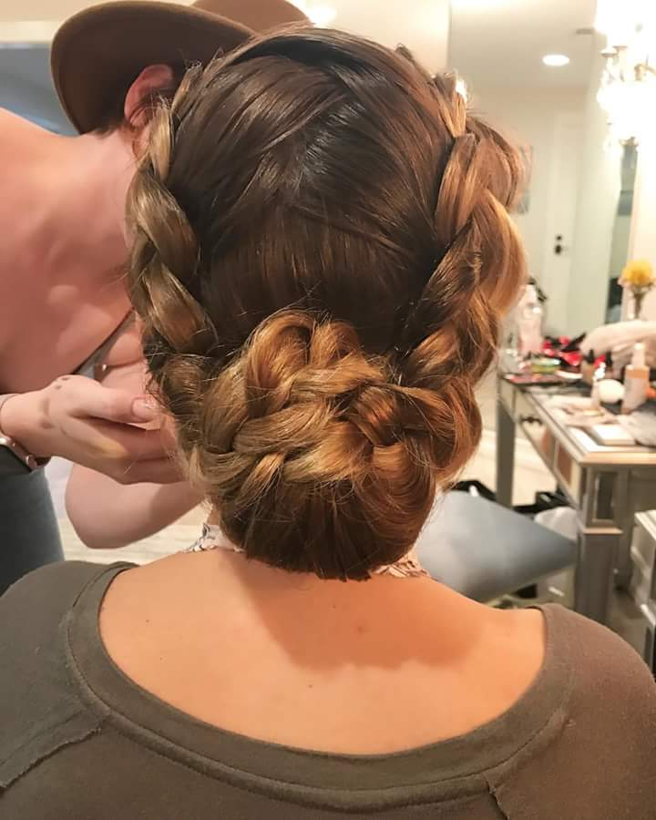 65 Super Stylish Braided Bun Hairstyle To Leave Behind Some In Most Popular French Braid Low Chignon Hairstyles (View 23 of 25)