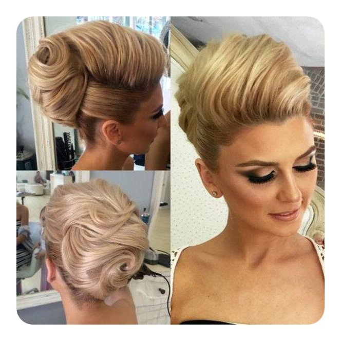 66 Beehive Hairstyles That Will Make You Stand Out In The Crowd Intended For Swirl Bun Updo Hairstyles (View 20 of 25)