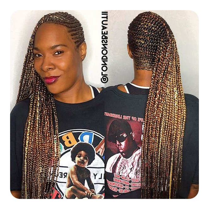 66 Cool And Trendy Lemonade Braids Regarding Recent Dramatic Side Part Braided Hairstyles (View 23 of 25)