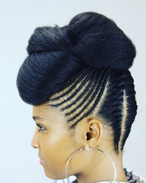 68 Inspiring Black Braid Hairstyles For Black Women – Style Throughout Most Current Big Bun Braided Hairstyles (View 12 of 25)