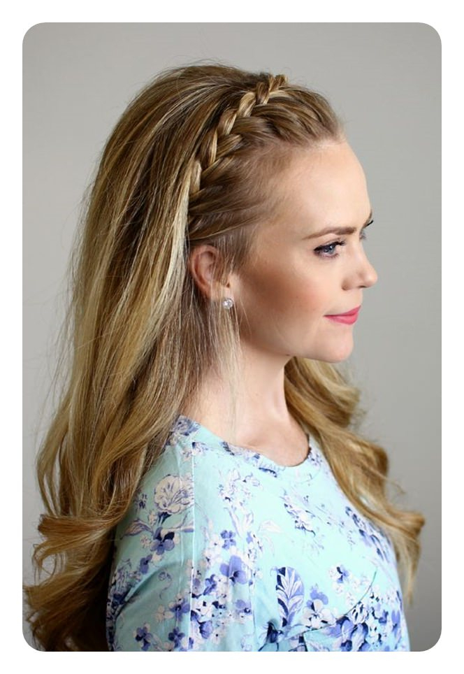 69 Easy And Elegant Headband Braid Hairstyles For Everyone! Intended For Recent Headband Braided Hairstyles With Long Waves (View 4 of 25)