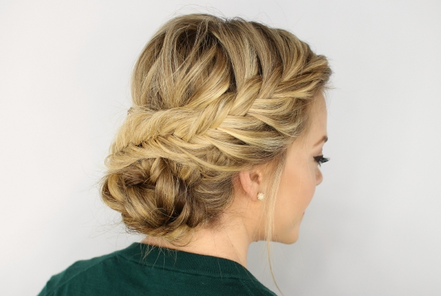 7 Plaited Low Bun Hairstyles | Womensok in Most Up-to-Date Plaited Low Bun Braided Hairstyles