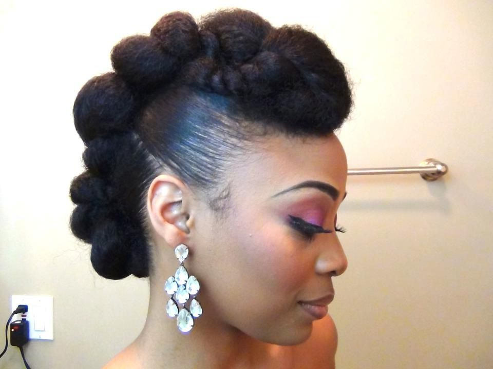 7 Pretty Perfect Natural Hairstyles For Black Brides throughout Twisted Faux Hawk Updo Hairstyles