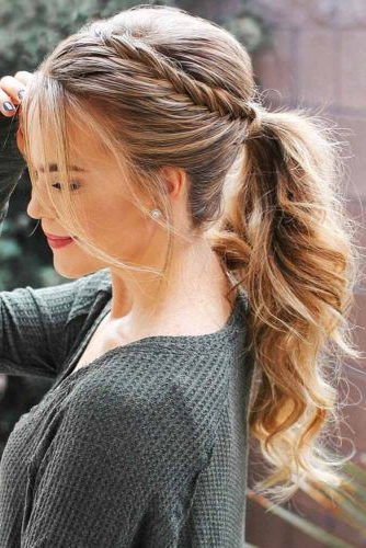 70 Charming Braided Hairstyles | Lovehairstyles Pertaining To Most Recently Ponytail Fishtail Braided Hairstyles (View 25 of 25)