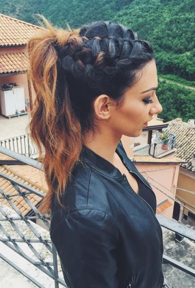 70+ Cute French Braid Hairstyles When You Want To Try within Most Recently High Ponytail Braided Hairstyles
